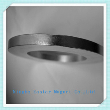 N48 Big Size Zinc Coating Ring Neodymium Magnet