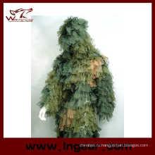 Камуфляжная Одежда Ghillie костюм лист Ghillie костюм для использования карточная игра