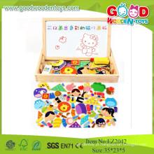 Bom brinquedos de madeira Magnetic Game Box With Patterns kids Jogos educativos