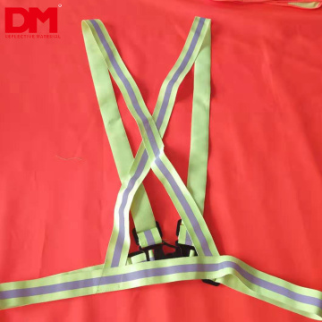 fluorescent green color webbing reflective elastic strap safety vest belt for outside running safety