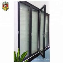 Aluminium frame glass patio front house exterior bi-folding door accordion doors