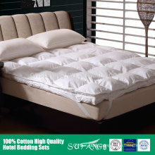 Best selling removable double layers thick down mattress pad for winter