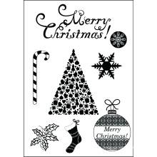 2015-Christmas set klare Stempel für scrapbooking