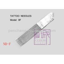 On Bar / Flat Needles & 50 Pack Pre-fabricados agujas de tatuaje estériles suministro