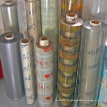 Feuille transparente de PVC couvrant la feuille
