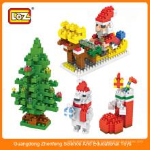 Mini bloc LOZ, petits blocs en plastique, diy série de cadeaux de Noël Ensemble de jouets en brique
