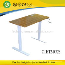 Popular Design Sit to Stand Computer Desk Lifting With Manual Cranked