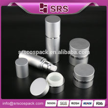 1/2oz 15ml 1oz 30ml 1.7oz 50ml Aluminium jar aluminium cosmetic bottle aluminium bottle with Alu pump aluminum container