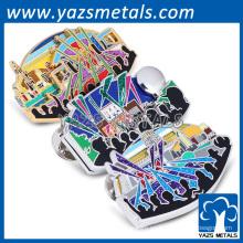 Pin de solapa de aleación de esmalte duro Pin de solapa de recuerdo de concierto