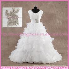 LS6004 Quality wedding dress real photos High alibaba wedding dress ruffled organza real sample bridal luxury wedding dress