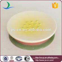 Hand painted ceramic shower soap dish holder
