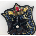Handmade Rhinestone Beaded Sequin Patches for Military