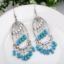 Tassel Turquoise rétro boucles d'oreilles Bohème femmes accessoires