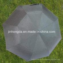 27 Zoll schwarz 2 umklappbare EVA Stiel Auto offenen Regenschirm (YS2F0009-1)