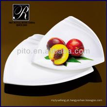 Prato de jantar conjunto forte placa de triângulo durável