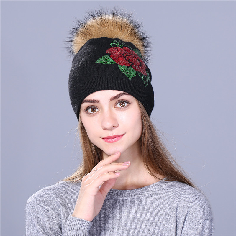 Winter Hat Sequins Embroidery