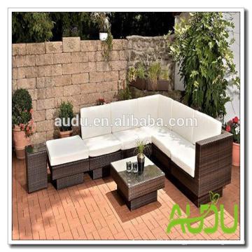 Audu Miami Patio Canapé en maille de jardin en rotin extérieur en osier