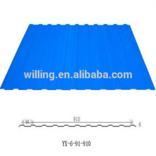 hot dip galvanized corrugated steel roofing material