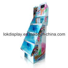 Teethbrush pantalla de piso con reproductor de LCD, Bandejas de cartón Display Rack