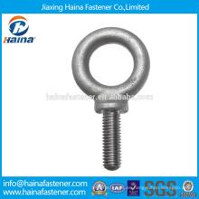 En existencia Proveedor Chino Mejor precio Alta resistencia de acero inoxidable de acero al carbono caída forjada galvanizada Ojo de elevación perno DIN580