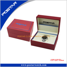 Caja de regalo de cuero hecha a mano de encargo Caja de embalaje negra de lujo