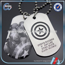 Captain America marvel Metal Army Dog Tag