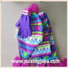 многоцветные жаккардовые Остров ярмарка вязать шарф шляпа и перчатки набор