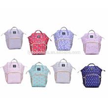 Nouveau design doux imperméable maman sac à dos sac bébé