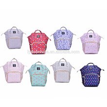 New design soft waterproof mommy bag backpack baby bag