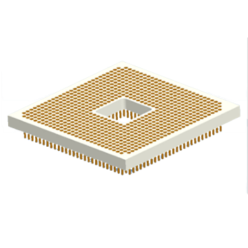 Zoccoli PGA Pin Grid Array lavorati 1.27x1.27mm