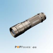 10W CREE Xm-L T6 Lanterna de alumínio de alta potência do diodo emissor de luz (POPPAS-S10)