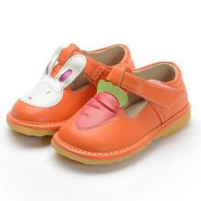 Orange Mädchen Baby Schuhe Kaninchen Karotte T Strap Schuh