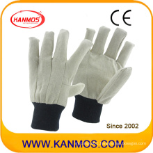 Top Quality Drill Double Palmed Sewed Canvas Industrial Safety Work Cotton Gloves (410011)