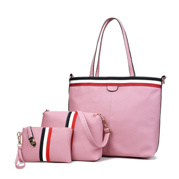 Pure Color con gran capacidad Simple Classical Tote-Bag