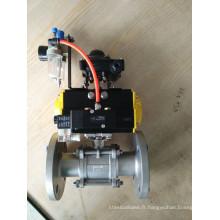 Robinet à boisseau sphérique à bride pneumatique 3 PC Electro