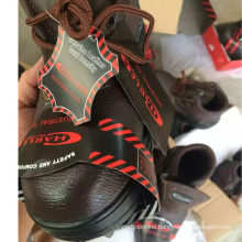 Industrial Worker Leather Safety Shoes (PU Leather Upper+Rubber Sole)