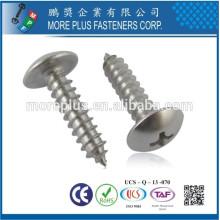 Hecho en Taiwán M3.5 * 32 Zinc Truss Cabeza Tornillos de rosca parcial