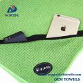 Ultra Absorbent Premium Microfiber Sports Fitness Gym Towel with Zipper Pocket