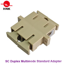 Sc Duplex Multimode Standard Plastic Fiber Optic Adapter