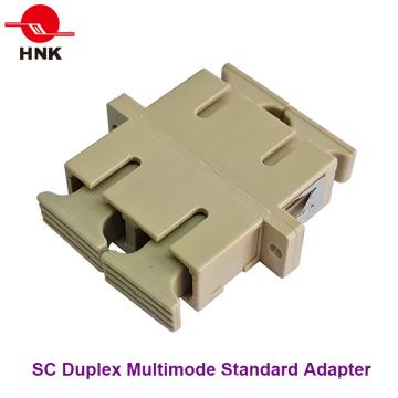 Sc Duplex Multimode Standard Plastic Fiber Optic Adapter
