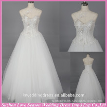 WD6028 Quality fabric heavy handmade export quality open low back special lace appliqued one shoulder wedding dress