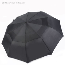 Big Size Double Canopy Auto Open 3 Folding Umbrella with Windproof