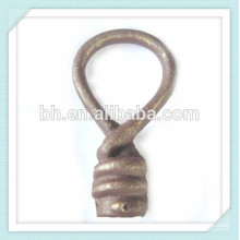 Cheap Decorative Wrought Cast Iron Twist Finial For Curtain Rod / Track