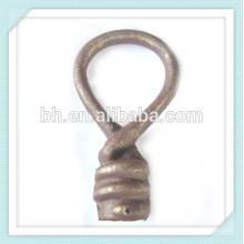 Barato decorativo forjado ferro fundido Twist Finial para cortina Rod / Track