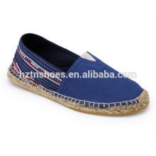 Оптовая Испания Обувь Espadrille Холст Обувь Мужчины Резиновые Подошва Обувь