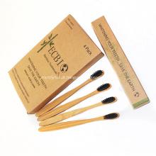 Escova de dentes de bambu natural biodegradável aprovada pela FDA