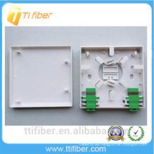 FTTH 2 puertos Fibra retardante de la placa de la placa de montaje / 86 Socket Patch Panel
