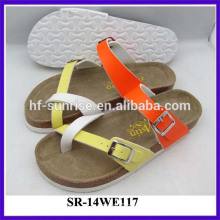 New arrival-Ladies confortable wholesale slippers cork sole slipper slippers lady