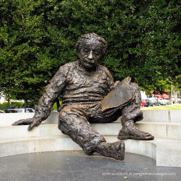 Fábrica de alta qualidade personalizado Einstein Memorial estátua de bronze