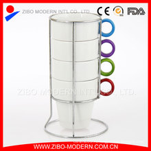 Керамическая кружка для кофе, штабелированная керамическая кружка